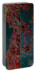 Portable Battery Charger featuring the painting April Showers/ May Flowers by Jacqueline McReynolds