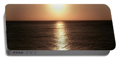 Portable Battery Charger featuring the photograph April Sunset by Amar Sheow