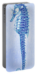 Aqua Seahorse- Left Portable Battery Charger by Jane Schnetlage