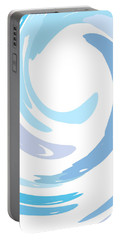 Aqua Swirl Portable Battery Charger by Ps