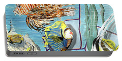 Portable Battery Charger featuring the painting Aquarium by Daniel Janda