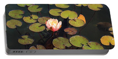 Aquatic Garden With Water Lily Portable Battery Charger