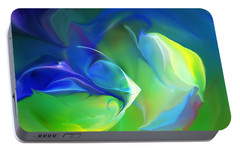 Portable Battery Charger featuring the digital art Aquatic Illusions by David Lane