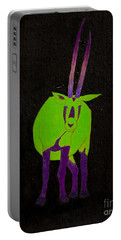 Arabian Oryx Portable Battery Charger by Stefanie Forck