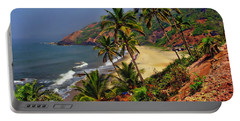 Arambol Beach India Portable Battery Charger by Anthony Dezenzio