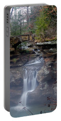 Arch Bridge In The Fog Portable Battery Charger