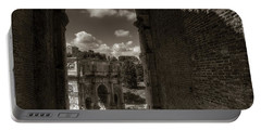 Arch Of Constantine From The Colosseum Portable Battery Charger