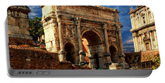Arch Of Septimius Severus Portable Battery Charger by Anthony Dezenzio