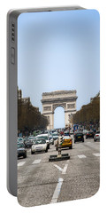 Arch Of Triumph In Paris Portable Battery Charger