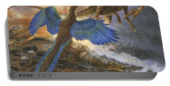 Archaeopteryx Defending Its Prey Portable Battery Charger