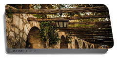 Arches At The Alamo Portable Battery Charger by Melinda Ledsome