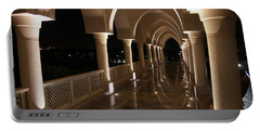 Arches In Abu Dhabi Portable Battery Charger by Debi Demetrion