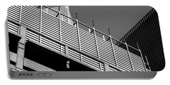 Architectural Lines Black White Portable Battery Charger