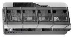 Architectural Pattern Glass Bridge Black White Portable Battery Charger