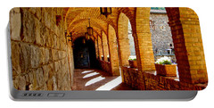 Archway By Courtyard In Castello Di Amorosa In Napa Valley-ca Portable Battery Charger