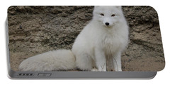 Arctic Fox Portable Battery Charger by Athena Mckinzie