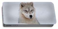 Arctic Pup In Snow Portable Battery Charger