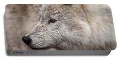 Arctic Wolf Portable Battery Charger by Eunice Gibb