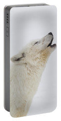 Arctic Wolf Howling Portable Battery Charger