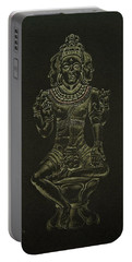 Portable Battery Charger featuring the drawing Ardhanarishvara I by Michele Myers