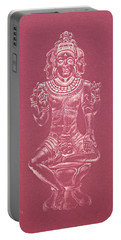Portable Battery Charger featuring the drawing Ardhanarishvara II by Michele Myers