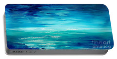 Portable Battery Charger featuring the painting Are We There Yet? by Tatiana Iliina