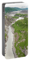 Arial View Of Turnback Canyon, Alsek Portable Battery Charger