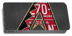 Arizona Diamondbacks Baseball Team Vintage Logo Recycled License Plate Art Portable Battery Charger