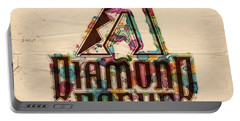 Arizona Diamondbacks Poster Vintage Portable Battery Charger by Florian Rodarte