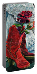 Arizona Rose Portable Battery Charger by Marilyn Smith