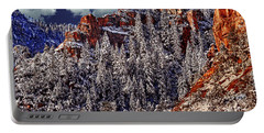 Arizona Secret Mountain Wilderness In Winter Portable Battery Charger