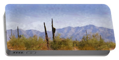 Arizona Sonoran Desert Portable Battery Charger by Betty LaRue