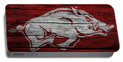 Arkansas Razorbacks On Wood Portable Battery Charger