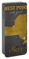 Army Black Knights West Point New York Usma College Town State Map Poster Series No 015 Portable Battery Charger