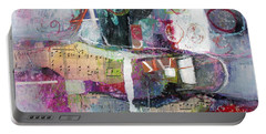 Art And Music Portable Battery Charger by Michelle Abrams