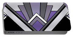 Art Deco Pattern Two - Purple Portable Battery Charger by Chuck Staley
