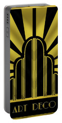 Art Deco Poster - Title Portable Battery Charger by Chuck Staley
