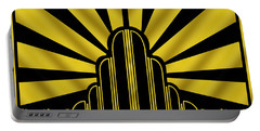 Art Deco Poster - Two Portable Battery Charger by Chuck Staley