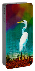 Art Of The Egret Portable Battery Charger