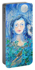 Artemis And The Wren- Portable Battery Charger by Trudi Doyle