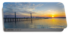 Portable Battery Charger featuring the photograph Calm Waters Over Charleston Sc by Dale Powell