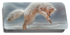 Artic White Wolf Portable Battery Charger by Joan  Minchak