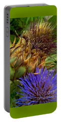 Artichoke And Blossom  Portable Battery Charger by Michael Hoard