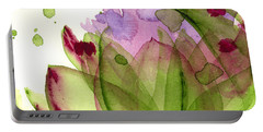 Artichoke Flower Portable Battery Charger by Dawn Derman