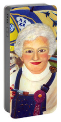 Artist At Work Portrait Of Mary Krupa Portable Battery Charger by Bernadette Krupa