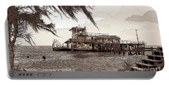 Portable Battery Charger featuring the photograph Tugboat From Louisiana Katrina by Luana K Perez