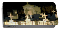 Portable Battery Charger featuring the photograph Louisiana Midnight Cemetery Lacombe by Luana K Perez