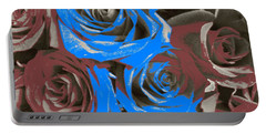 Portable Battery Charger featuring the photograph Artistic Roses On Your Wall by Joseph Baril
