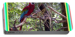 Portable Battery Charger featuring the photograph Artistic Wild Hawaiian Parrot by Joseph Baril