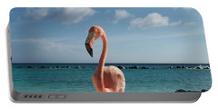 Portable Battery Charger featuring the photograph Aruba Hairy Eyeball by HEVi FineArt